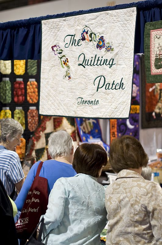 Quilting booth - Visit the Creativ Festival with Maple Leaf Tours