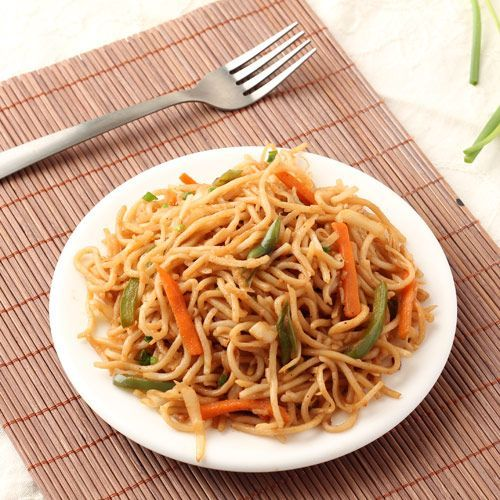 Veg Hakka Noodles - Indo Chinese style Vegetarian Hakka Noodles with Vegetables - Kid's Favorite Snack Food - Step by Step Photo Recipe