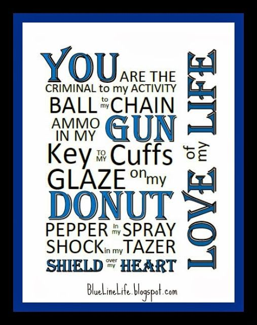 Free Printable!  Blue Line Life- Living, Loving, and Thriving as a Law Enforcement Family!