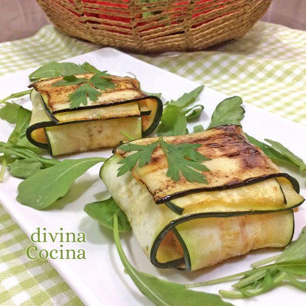 Estos paquetitos de calabacín rellenos son un plato vistoso y fácil de preparar. Aquí tienes un paso a paso para prepararlos e ideas para rellenos.