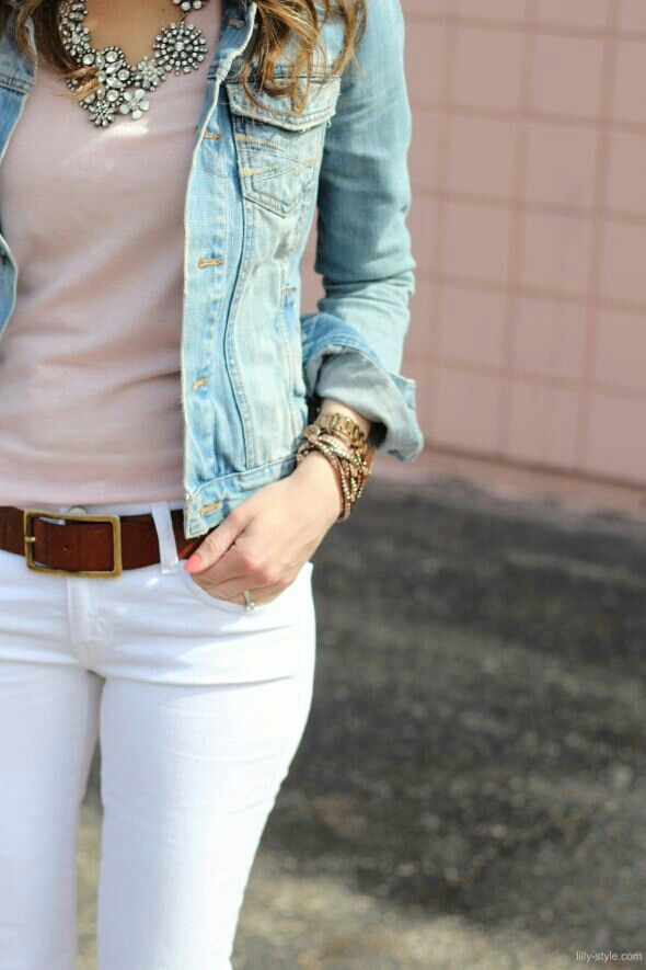 Cute jean jacket outfit