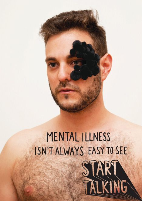 Mental illness isn't always easy to see; start talking.