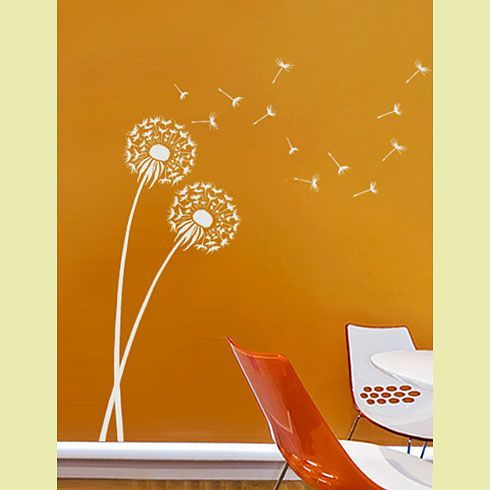 Another garden mural idea. I would probably do it in black on an sky blue field.