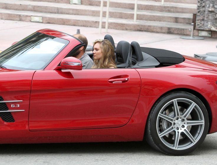 Model Sighting: Candice Swanepoel Takes a Red Convertible for a Spin