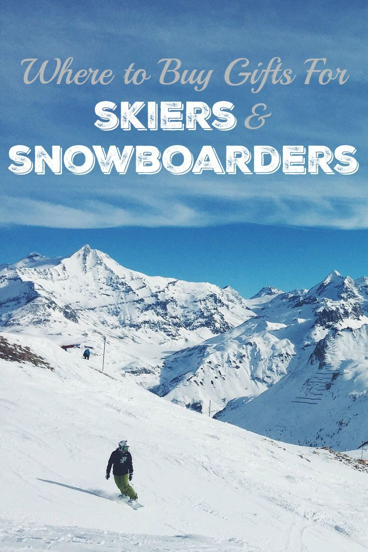 Where to Buy Gifts For Skiers & Snowboarders --> Get big discounts on ski and snowboard gear, winter clothing, and things you'll need for active outdoor adventures. Pin this post to save it for holiday gift ideas, Christmas gift shopping for the winter sports lovers on your list.