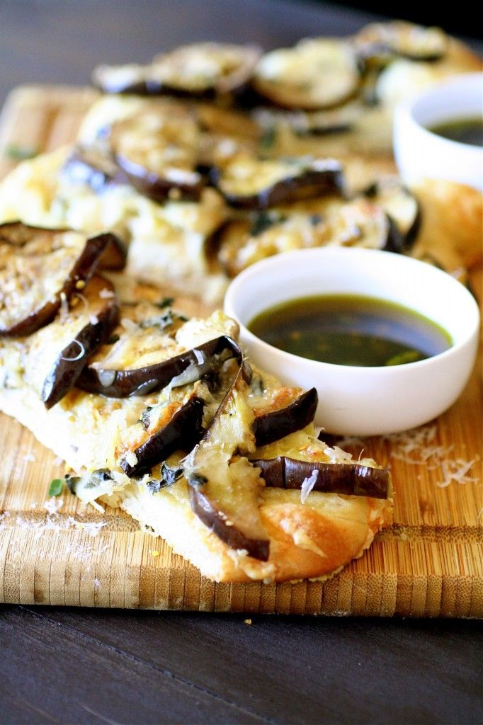 Eggplant Focaccia and The Village Press Oil Dipping Sauce