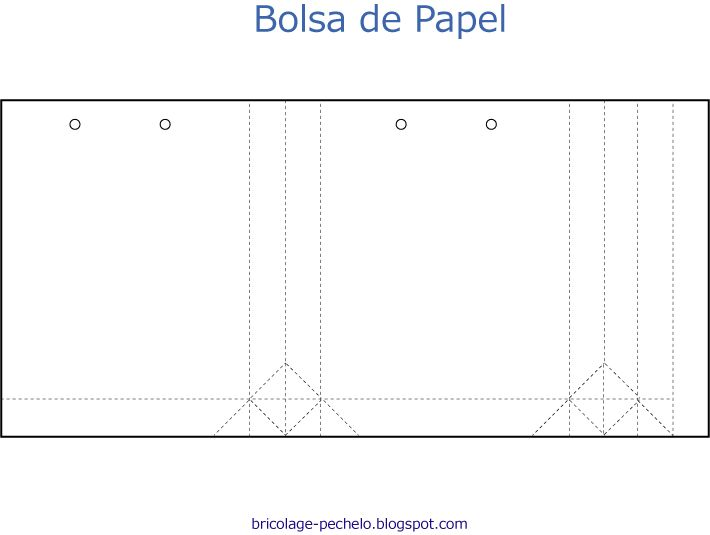Plantilla para bolsa de papel imagui proyectos - Hacer bolsas de papel en casa ...