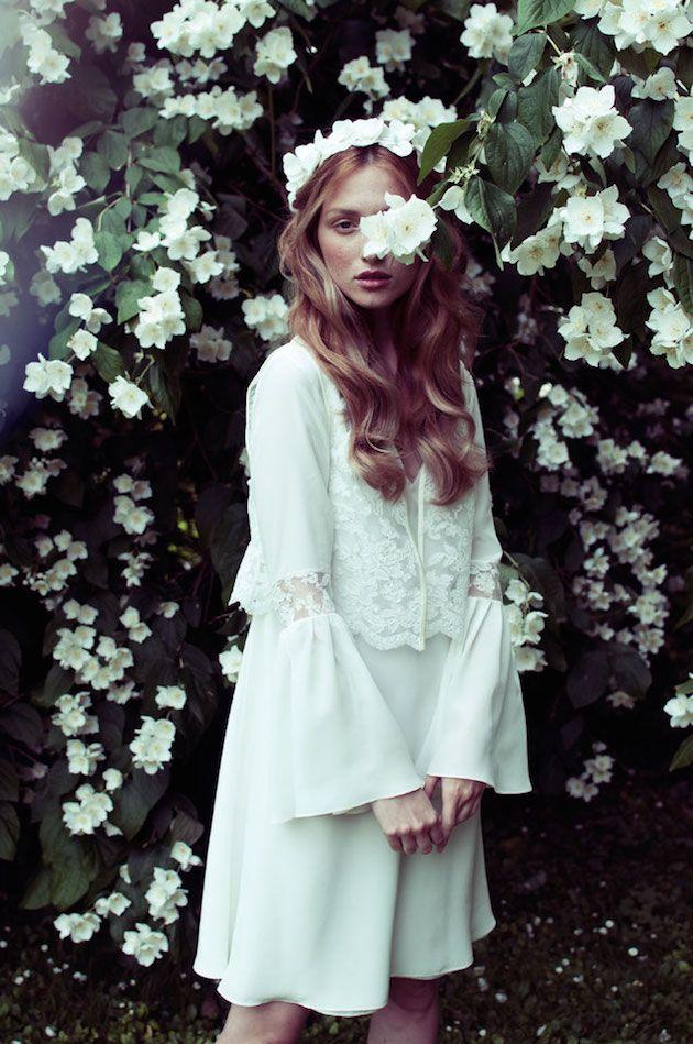 70s inspired wedding dress