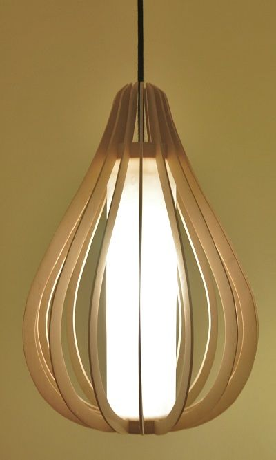 Droplet design lamp made out of birch.