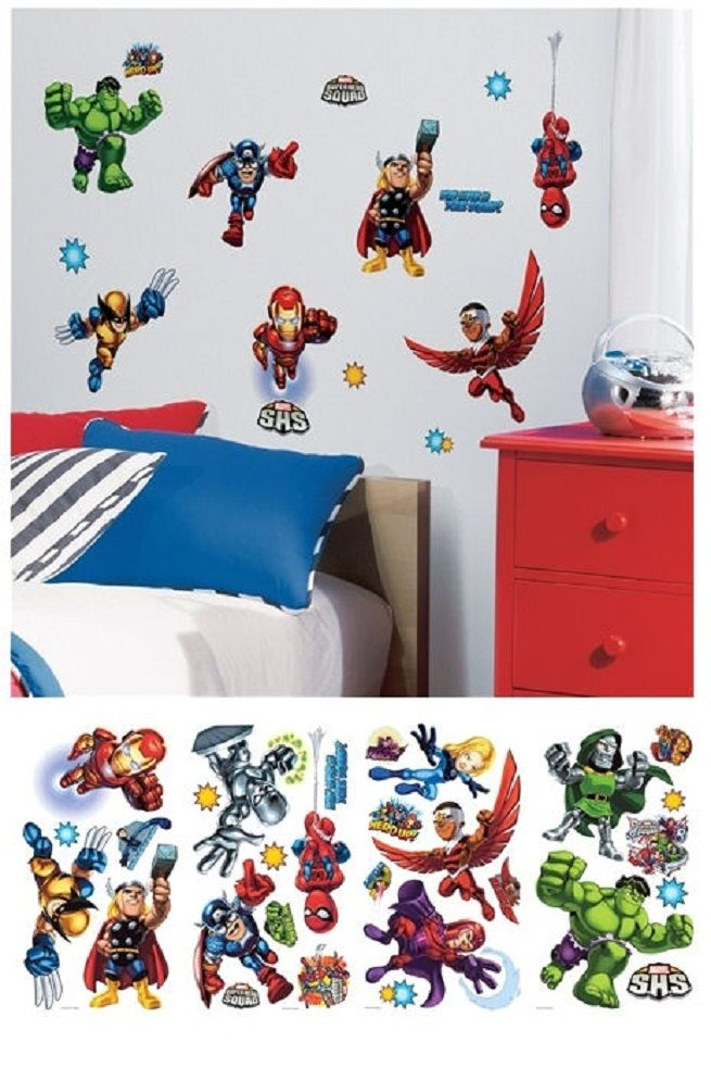 Superhero Wall Decals  The Most Frolic And Striking Wall Décor: Marvel Wall  Decals ~