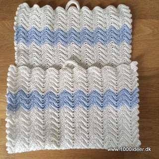 I mine gemmer har jeg fundet dette søde håndklæde, som min mormor har hæklet for rigtig mange år siden. Der er anvendt bomuldgarn nr. 8 og hæklenål nr. 3 (vil jeg tro).