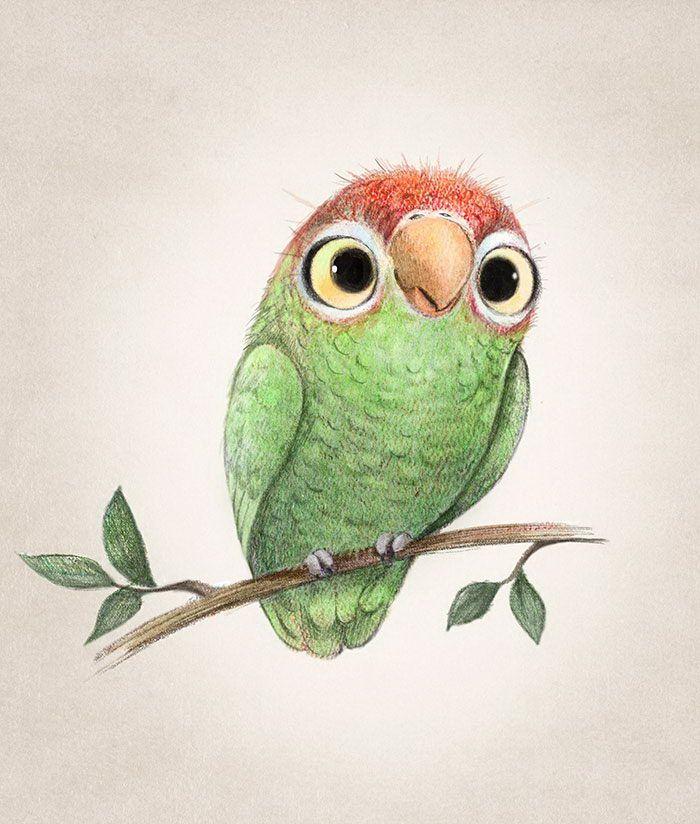 Милые рисованные картинки животных