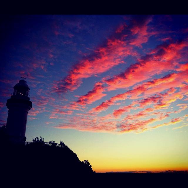 Sunrise 3.8.12 Cape Byron lighthouse, Australia.