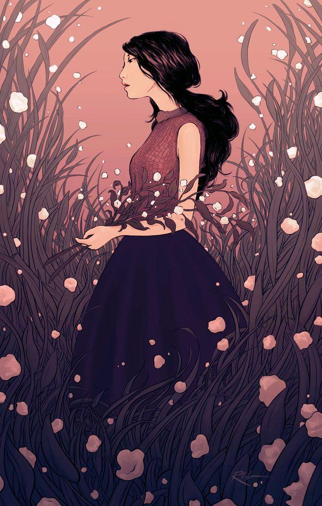 """Gatherer"" by Rachel Idzerda (monocromia de color)"