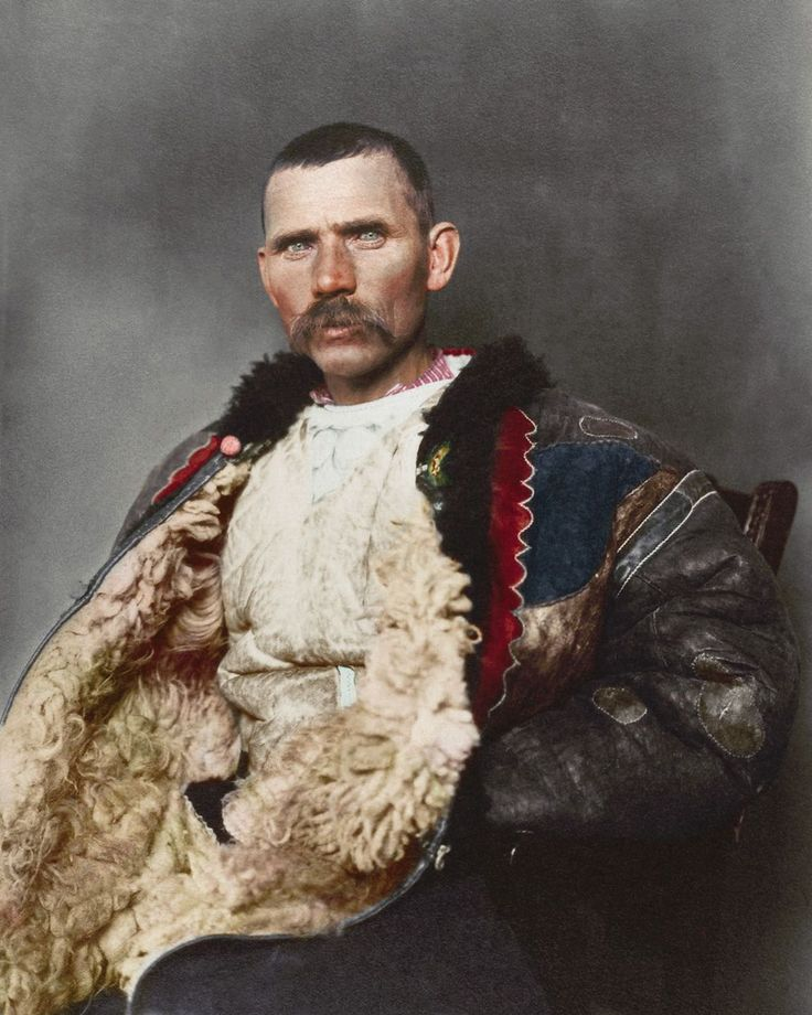 """Astounding colorized photos reveal the faces and fashions of Ellis Island immigrants 1906 """"Romanian shepherd."""""""