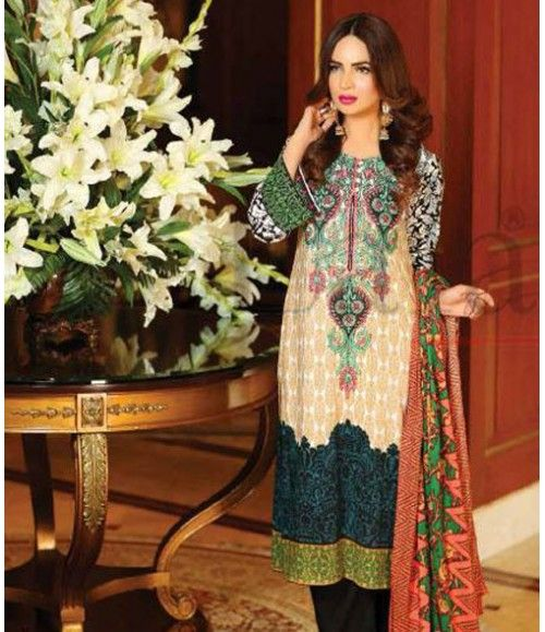 Lala Classic Embroidered Linen Suits collection LLE_09A