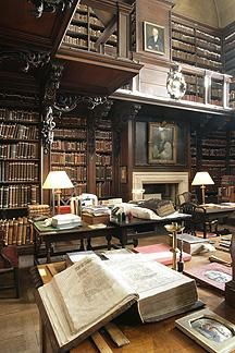I find this relatively tiny and obscure library fascinating. The library's catalogs go back to the 14th century, and the oldest book on its shelves is a collection of Psalms illuminated in the 1100s. .