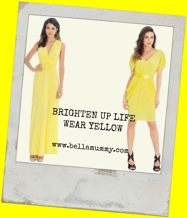 Colours of Spring!  Brighten up your life with a splash of colour!  Wear Yellow....