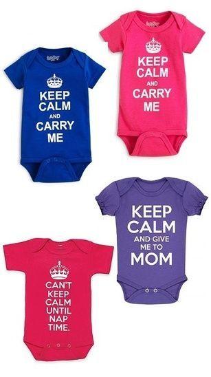 1ca0c149 Baby Bodysuit Keep Calm Mom Nap Time Posh Crown Fun Humor Graphic Print  Snap Bottom Pink Purple Blue Boy Girl Newborn Infant Baby Showe…
