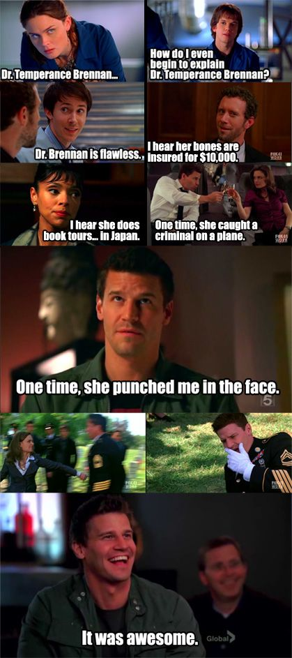 Dr. Brennan, like Regina George except more educated and sophisticated. Also she's way cooler and more awesome.