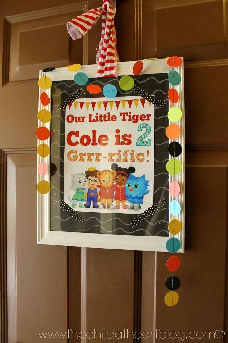DIY Daniel Tiger Birthday Party + 2 Free Printables Daniel Tiger Welcome Sign Printable for Birthday Party