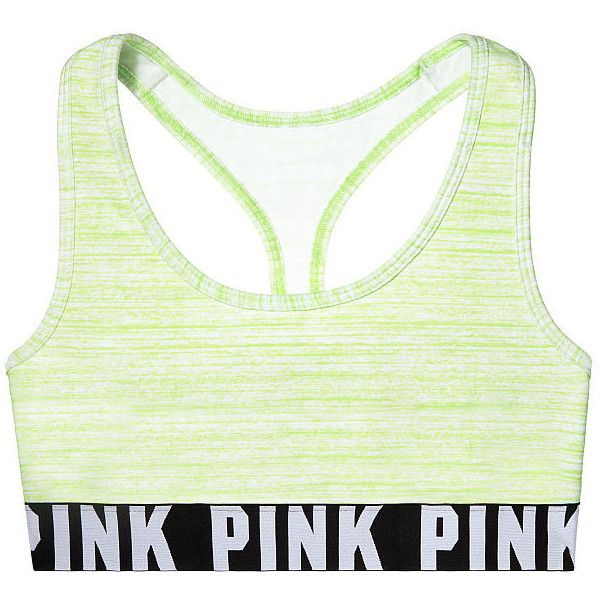PINK Cotton Bra Top ($23) ❤ liked on Polyvore featuring underwear, intimates, sports bras, tops and vs