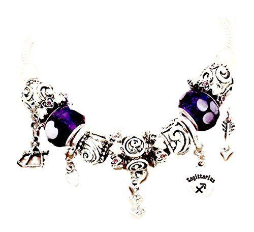 Sagittarius Charm Bracelet Zodiac BG Silver Tone Crystal ... www.amazon.com/...