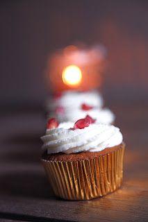 Cupcakes alla melagrana e spumante