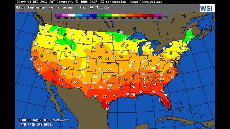 ASMR THE Weather Forecast For Thursday NOV 30