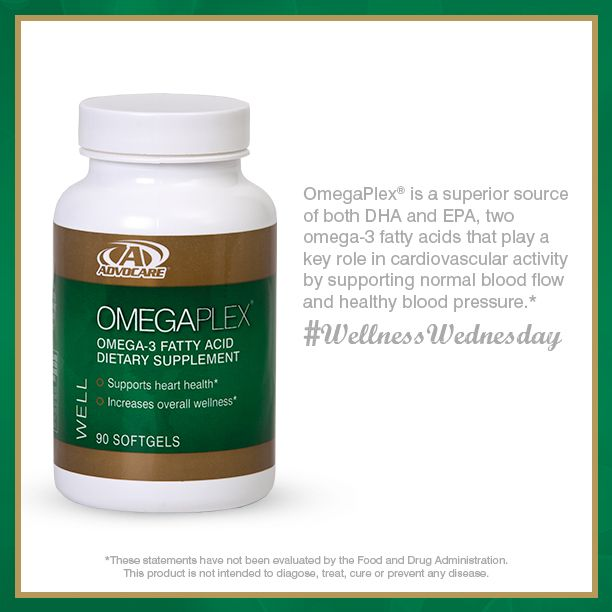 OmegaPlex® omega-3 fatty acid dietary supplement is a safe, convenient and easy way to get the omega-3 fatty acids that may be missing in your diet.  To Order Advocare Products: www.advocare.com/140422340
