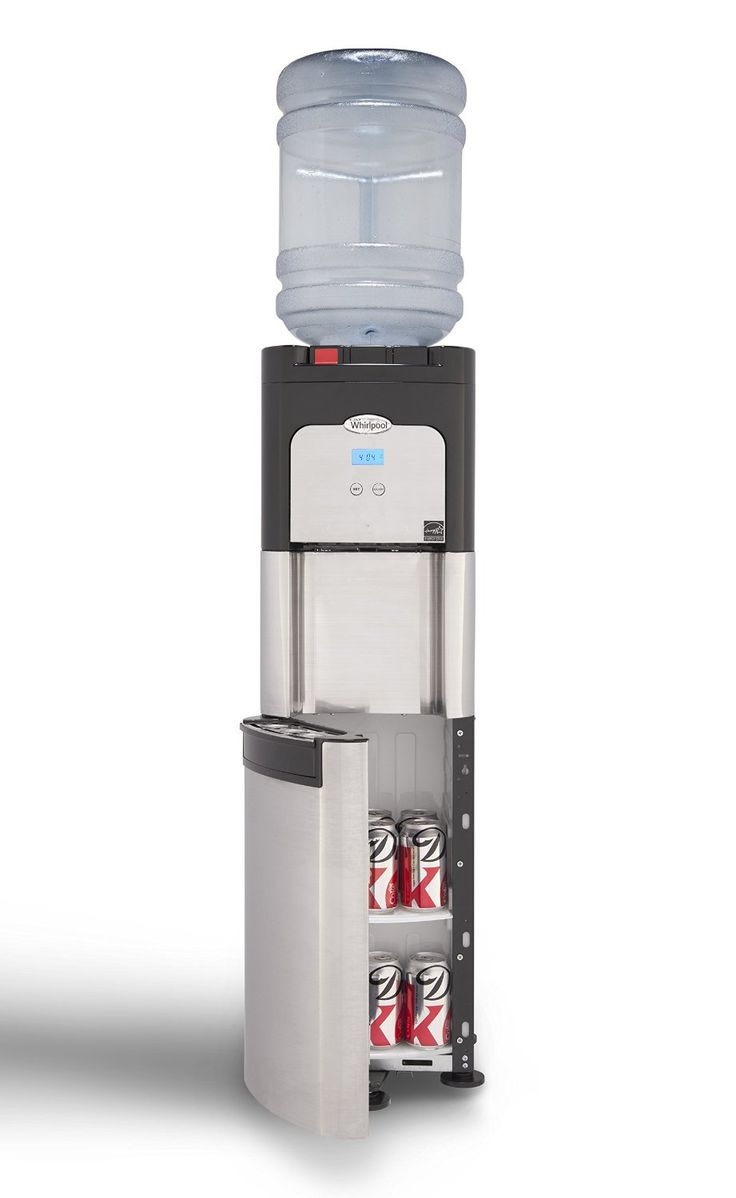 Whirlpool Commercial Water Cooler, Storage Cabinet, Digital Temperature Display, Ice Chilled Water, Steaming Hot,Full Stainless Steel Water Dispenser