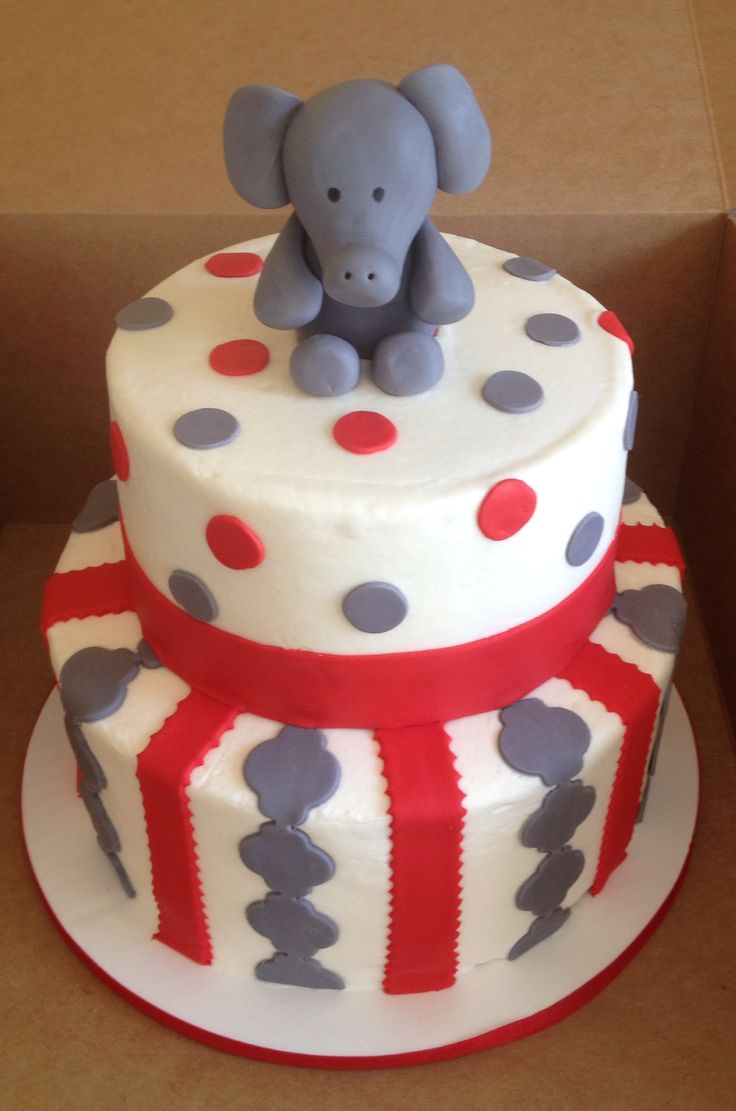 elephant baby shower cake church showers pinterest