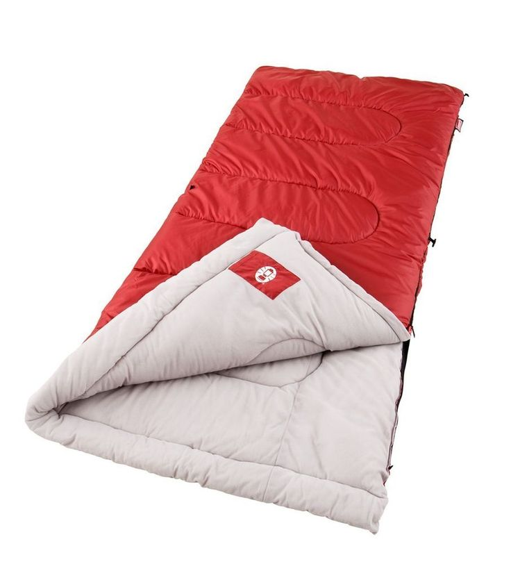 Sleeping Bag Cool Weather Camping Hiking Bedding Travel Outdoor New Red