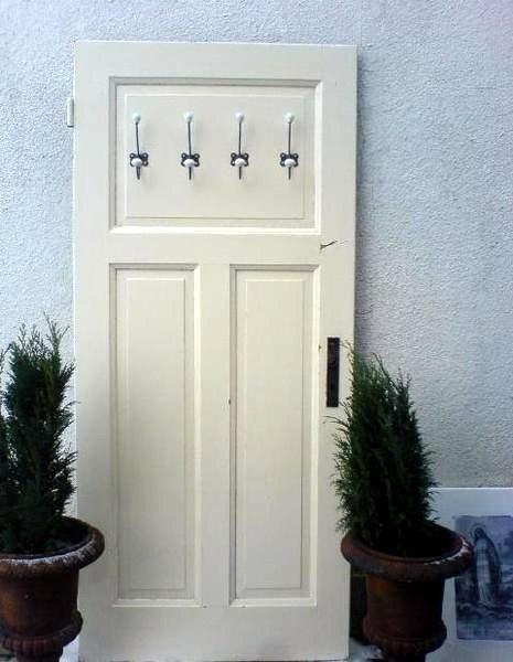 Vintage Garderobe aus alter Tür --> Wintergarten | Deko | Pinterest : garderob vintage : Garderob