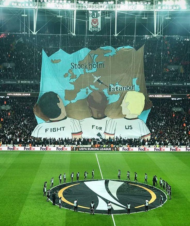 "Instagram'da Gökhan Inler (@gokhaninler): ""We fight for you !  Proud to be Black Eagles !  #UEL #Besiktas #kartalinler"""