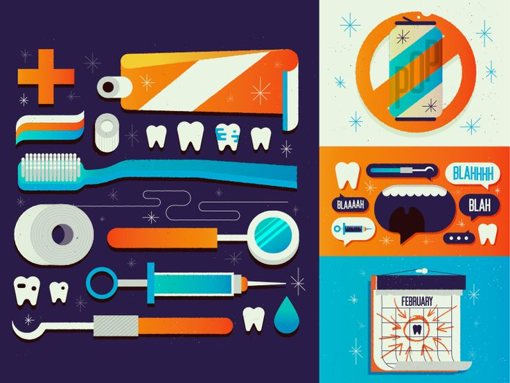 Some spot illustrations I worked on over the holidays for an article about 25 ways to make the dentist suck less. Can't wait to see these in print!