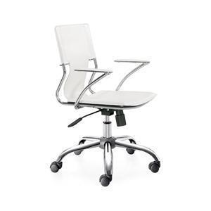 Zuo Modern Trafico Office Chair - White, Set of 2
