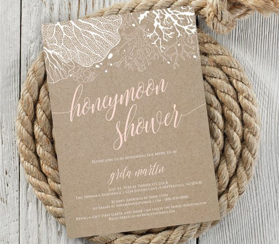 Honeymoon Shower Invitation Bridal Shower Invite Wedding