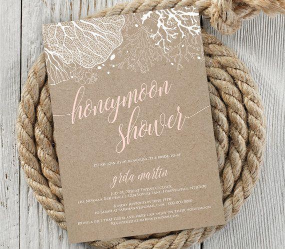 Honeymoon Shower Invitation Bridal Shower by MintyPaperieShop                                                                                                                                                                                 More