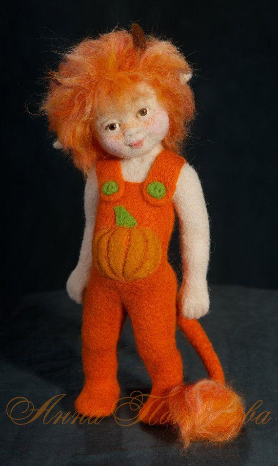 Nadel gefilzte Puppen Imp. Kunst-Puppe Autor Doll von AnnPot
