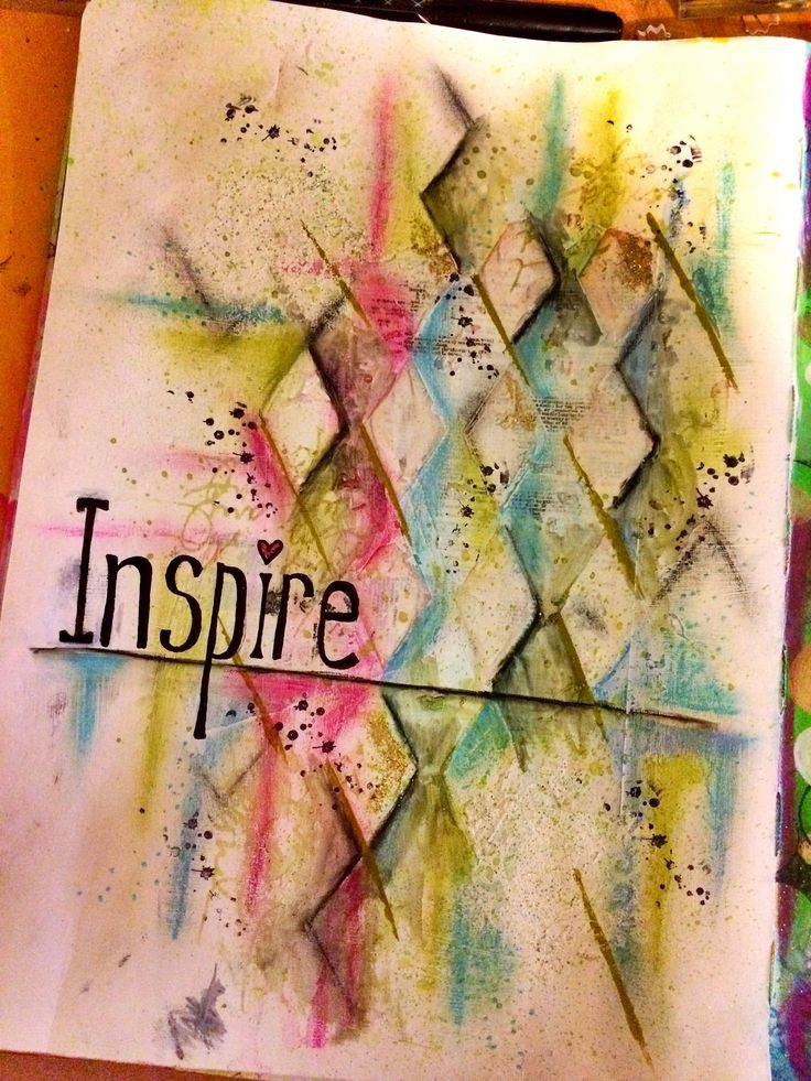Inspire Art Journal Page