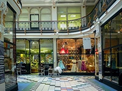 Shopping in Barton Arcade