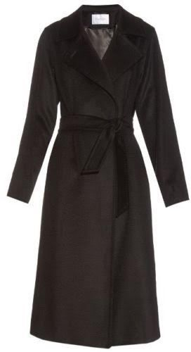 MAX MARA BLACK CAMELHAIR WRAP COAT SZ 8 MSRP $2690 #MaxMara #BasicCoat