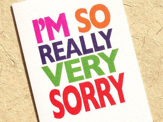 Apology Card  Sorry Card  Please Forgive Me  Funny Card