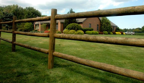 log & post (post & rail) fence, we put up a 2 rail log & post fence around our property, we recycled and reused old fence posts & rough cut rails,looks beautiful especially when seasoned, gives property a very rustic feel