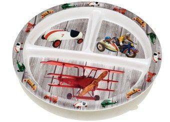 3-vaks bord met retro speelgoed print