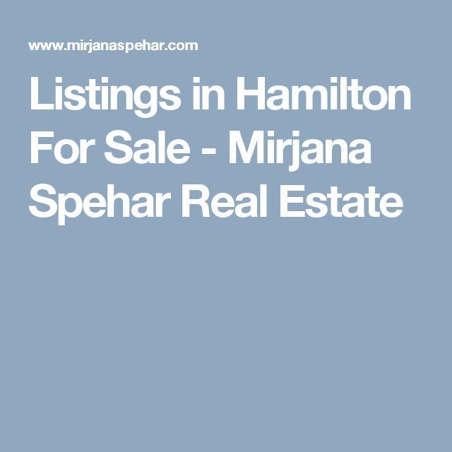 Listings in Hamilton For Sale - Mirjana Spehar Real Estate