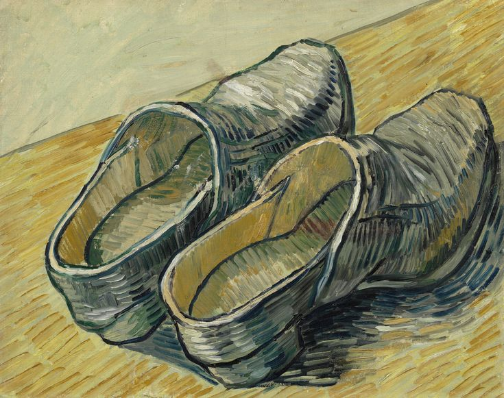 Vincent Willem van Gogh (1853-1890) A Pair of Leather Clogs 1889. Oil on canvas…