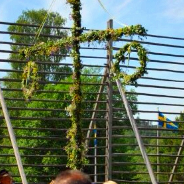 Midsummer Pole/Maypole whatever you want to call it... A must for Midsummer's celebrations in Sweden!