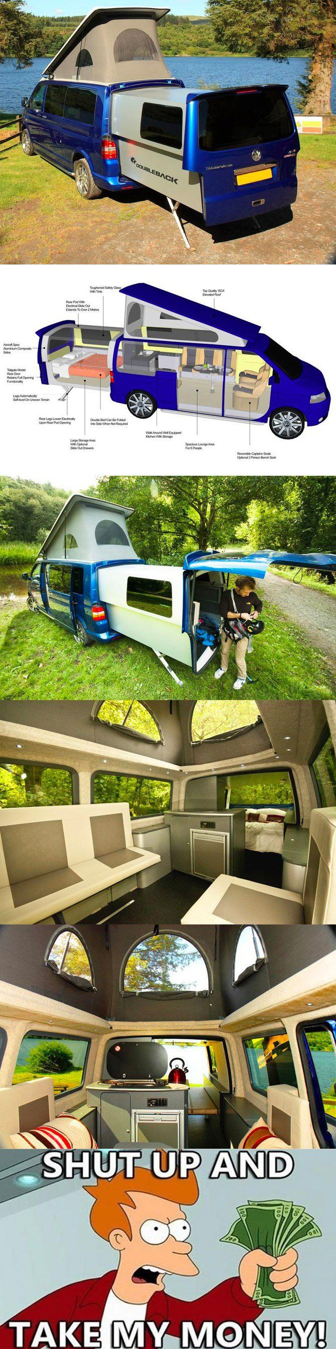 want.: The Roads, Camper Vans, Vw Campers Vans, Cars, Zombies Apocalyps, Road Trips, Camps, Travel, Roads Trips
